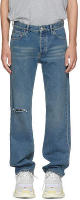 Balenciaga Blue Classic Fit Jeans