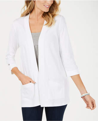 Karen Scott Cotton Cozy Cardigan