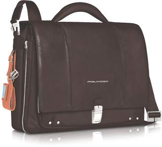 "Piquadro Link - Slim 15"" Laptop Expandable Messenger Bag"