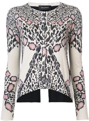 Yigal Azrouel leopard pattern cardigan