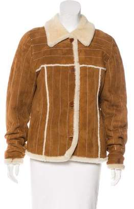 Neiman Marcus Suede & Shearling Jacket