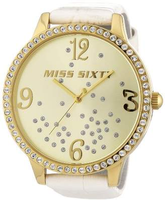Miss Sixty Women's Quartz Watch R0751104504 with Leather Strap
