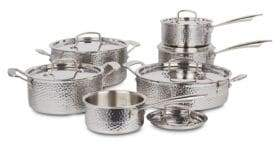 Cuisinart 18/10 Stainless Steel Hand-Hammered 12-Piece Cookware Set - Induction Ready