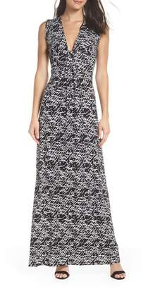 Fraiche by J Plunge Neck Maxi Dress