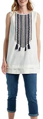White Stuff Rik Rack Vest, Cream