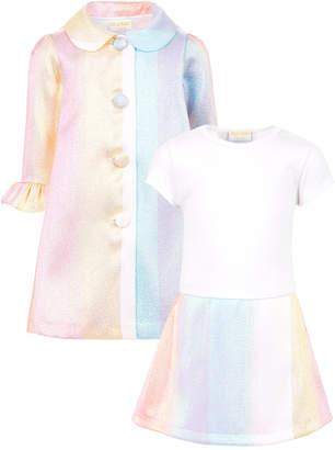b3b2e767 Blueberi Boulevard Little Girls Rainbow Coat Dress