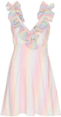 All Things Mochi lorena rainbow mini dress