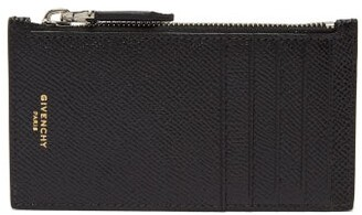 Givenchy Textured Leather Cardholder - Mens - Black