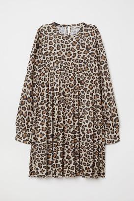 H&M Pleated Dress - Beige