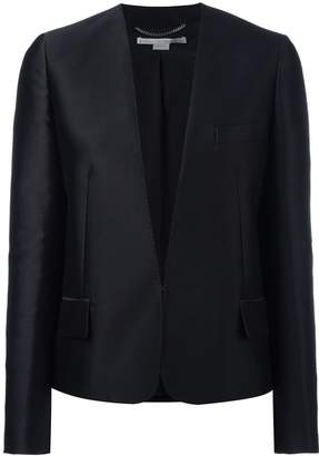 Stella McCartney embroidered bird collarless blazer
