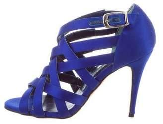 Manolo Blahnik Satin Multistrap Sandals