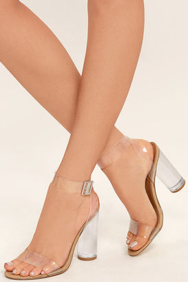 Steve Madden Clearer Clear Lucite Heels $109 thestylecure.com