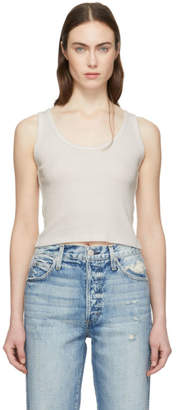 5eb9b0ed19f1a Amo Off-White Rib Crop Tank Top