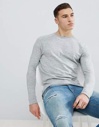 Bershka Lightweight Knitted Sweater In Light Gray