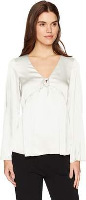 Kensie Women's Shiny Polyester Top