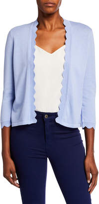 Cynthia Steffe Cece By Open-Front Scallop Cardigan