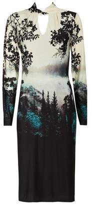 Wallis Black Printed Jersey Shift Dress