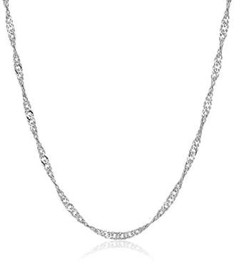 Sterling Italian 1.4 mm Singapore-Chain Necklace