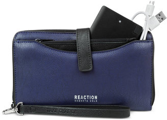 Kenneth Cole Reaction Right Angles Tab Tech Wristlet with Charger $78 thestylecure.com
