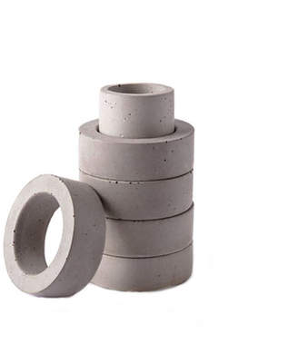 Culinarium Concrete Napkin Ring / Toothpick Holder Set