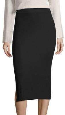 ATM Anthony Thomas Melillo Side-Slit Knit Midi Skirt