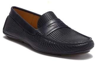 Aquatalia Bruce Weatherproof Embossed Leather Driving Shoe