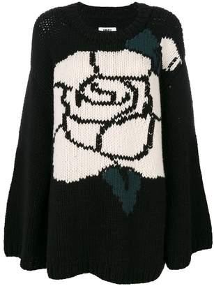 MM6 MAISON MARGIELA intarsia rose jumper