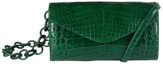 Nancy Gonzalez Patent Crocodile Jellybean Cross Body Bag
