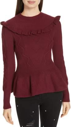 Ted Baker Elsahi Yoke Detail Peplum Sweater
