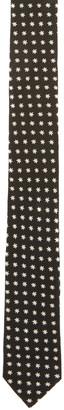 Saint Laurent Black Star Tie $225 thestylecure.com
