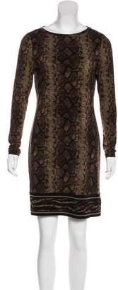 MICHAEL Michael Kors Snakeskin-Print Mini Shift Dress