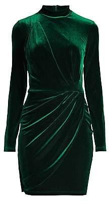 Black Halo Women's Briar Mini Velvet Bodycon Dress