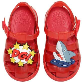 Dolce & Gabbana Shark & Logo Rubber Sandals