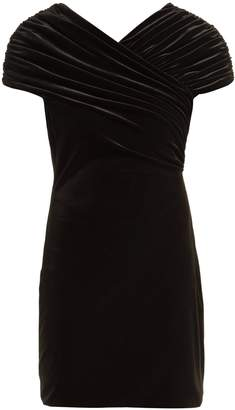 Christopher Kane Gathered stretch-velvet mini dress