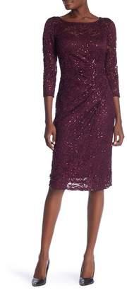 Marina 3/4 Sleeve Sequin Dress