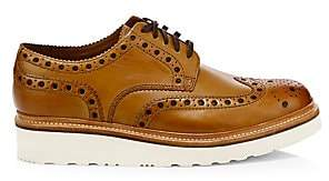 Grenson Men's Archie Wedge Leather Wingtip Brogues