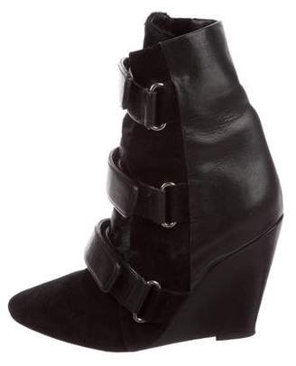 Isabel Marant Leather Wedge Boots