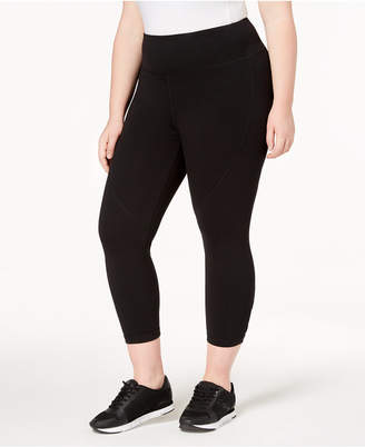 Calvin Klein Printed High-Waist Lattice Cropped Leggings