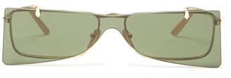 Gucci Square Metal Sunglasses - Mens - Gold
