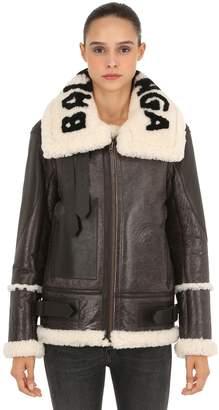 Balenciaga Oversized Le Bombardier Shearling Jacket