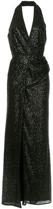 Elie Saab sequined draped waisted dress