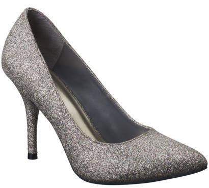 Mossimo Women's Vivian Glitter Pointy Heel - Multicolor