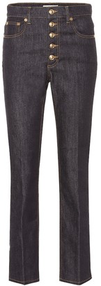 Tory Burch Button Fly high-rise jeans
