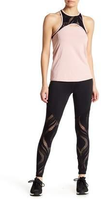 Bebe Lace Panel Leggings