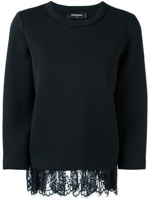 DSQUARED2 loose draped lace jumper