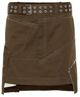 Helmut Lang Cotton-blend miniskirt
