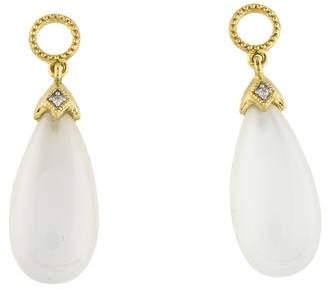 Jude Frances 18K Moonstone & Diamond Earring Enhancers