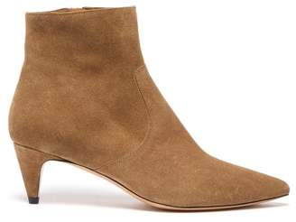 Isabel Marant Derst Point Toe Suede Ankle Boots - Womens - Khaki