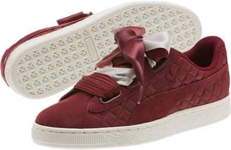 Suede Heart Quilt Women's Sneakers