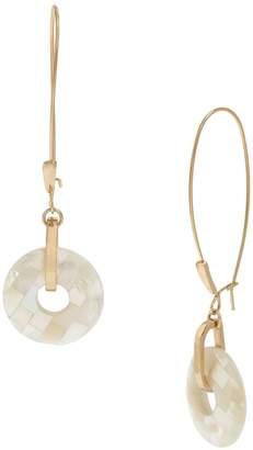 Robert Lee Morris Soho Mosaic Mother-Of-Pearl Drop Earrings